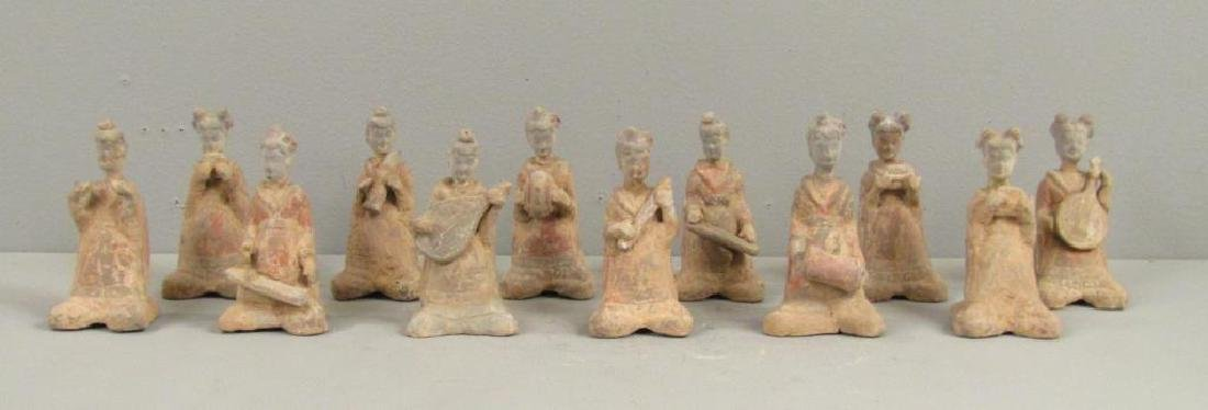 Tang Dynasty Chinese Pottery Female Musicians