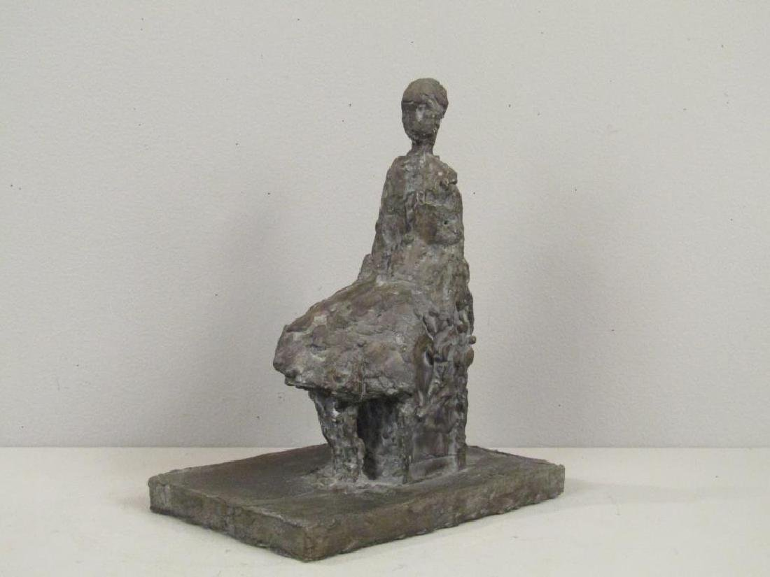 Unsigned Bronze - Seated Figure