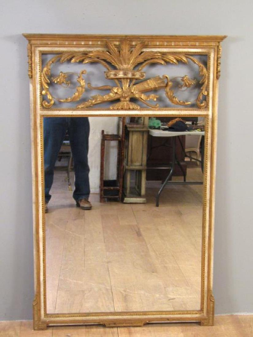 Regency Style Gilt and Painted Trumeau