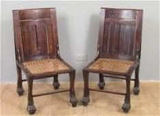 Pair Mahogany Anglo-Indian Chairs