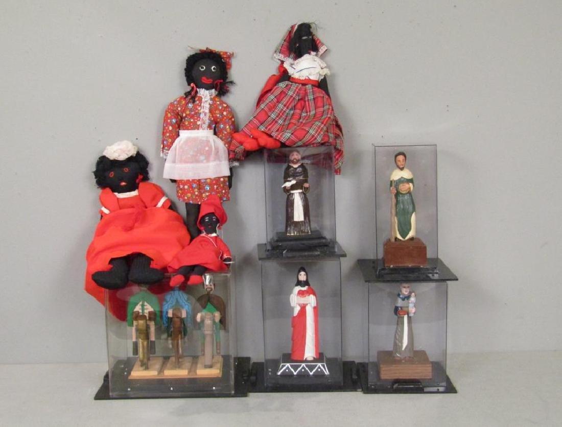 Puerto Rican Religious Figures and Bombe Dolls