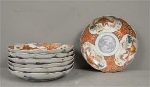 Set of 7 Antique Imari Plates