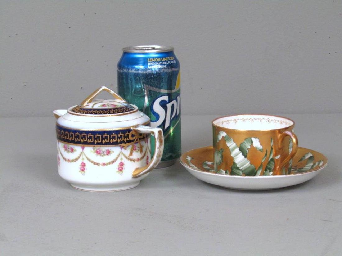 Russian Porcelain Teapot and Cup and Saucer - 2