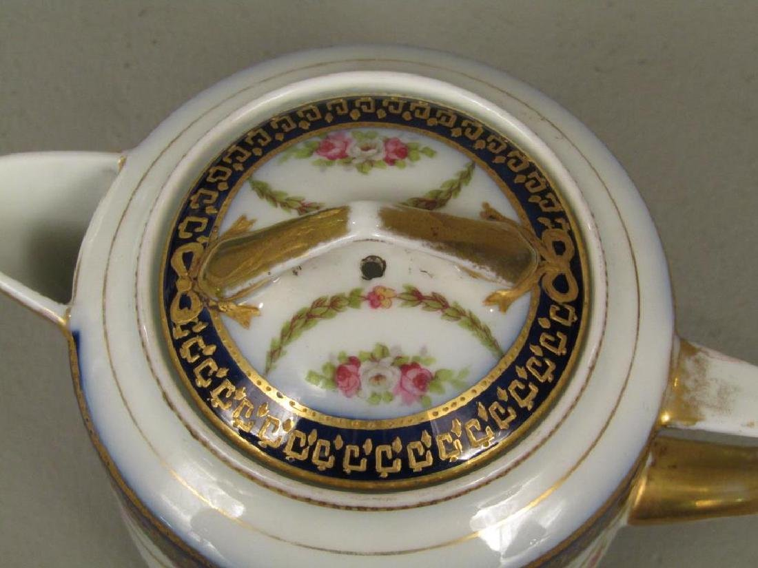Russian Porcelain Teapot and Cup and Saucer - 3
