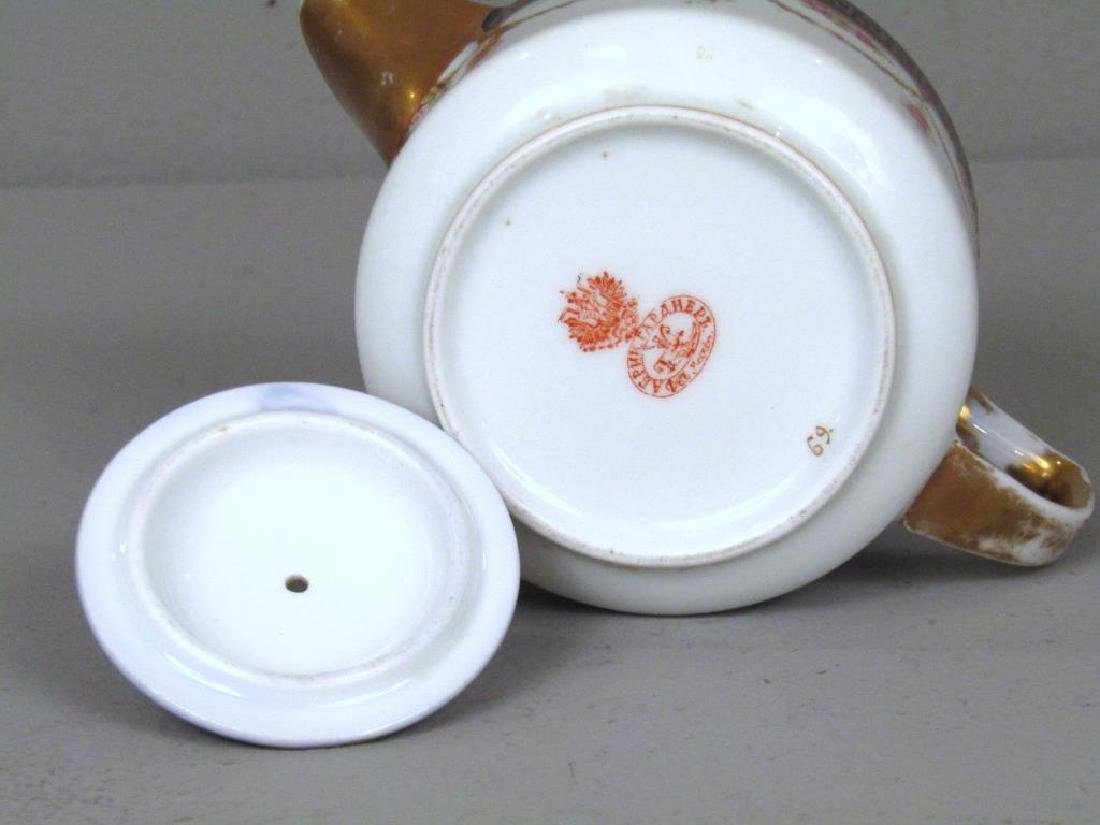 Russian Porcelain Teapot and Cup and Saucer - 4