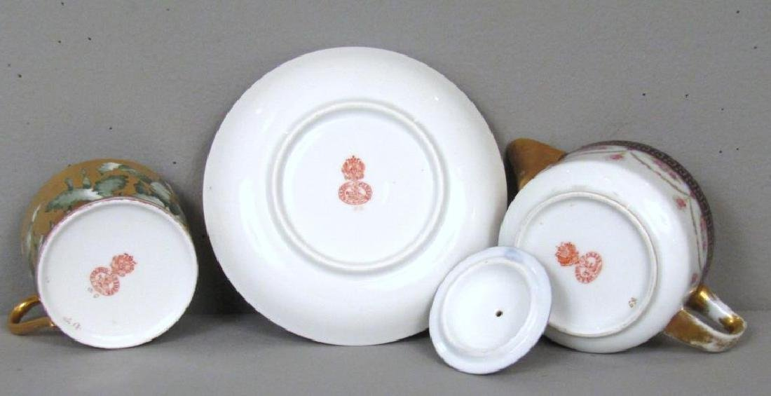 Russian Porcelain Teapot and Cup and Saucer - 7