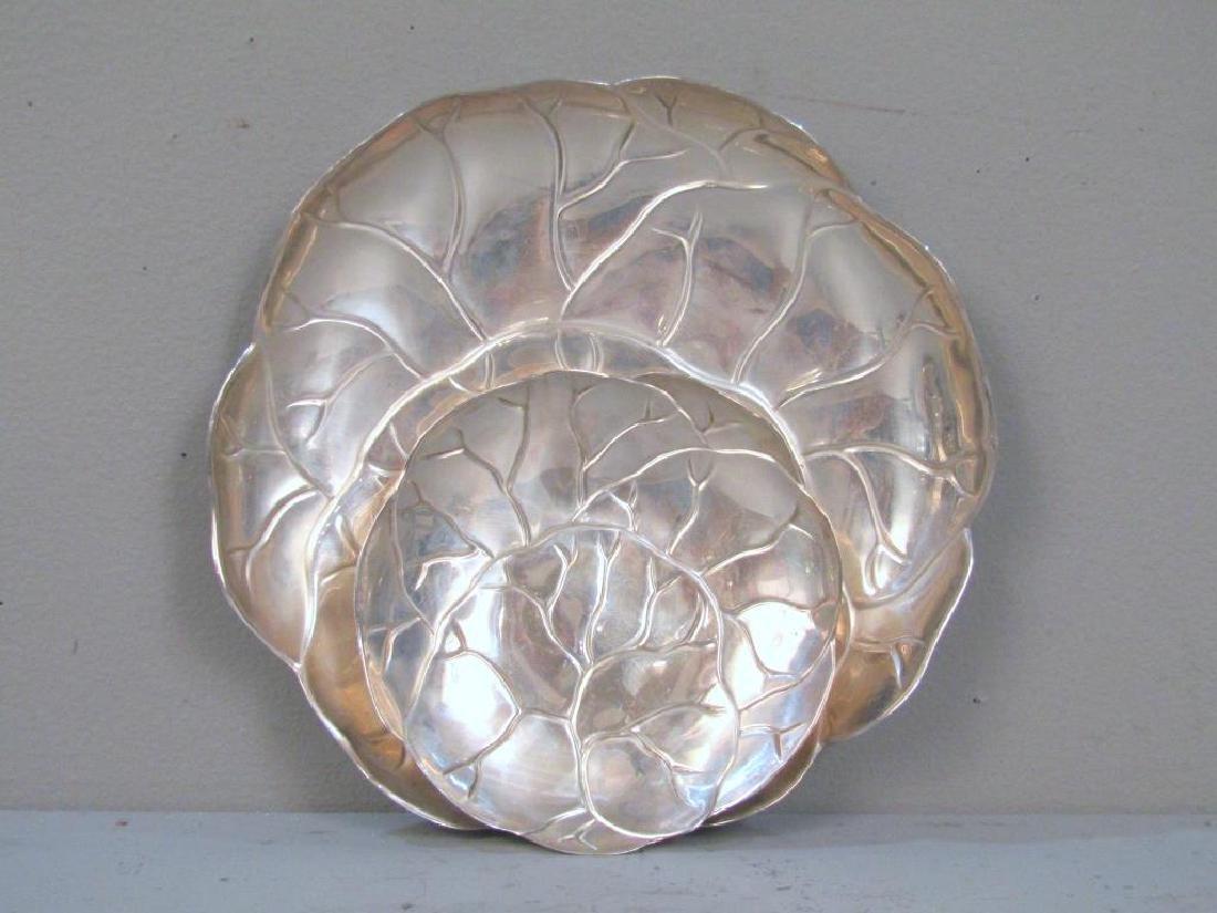 2 Tiffany & Co. Sterling Cabbage Leaf Trays