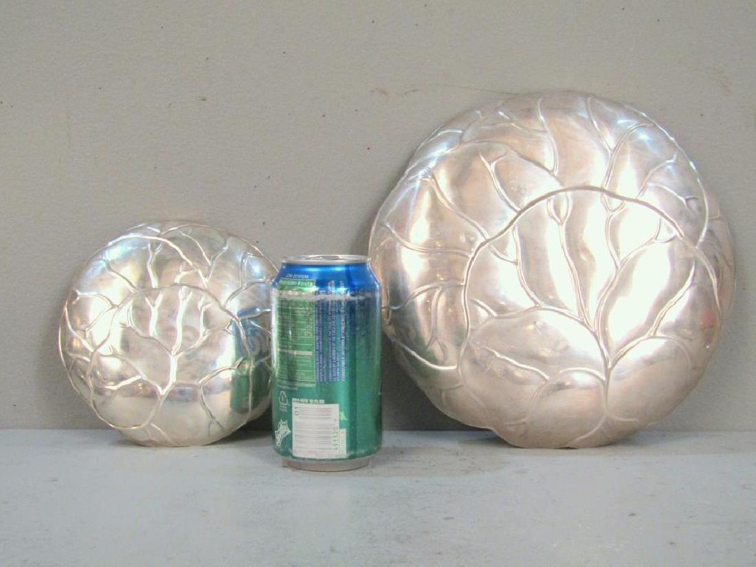 2 Tiffany & Co. Sterling Cabbage Leaf Trays - 3