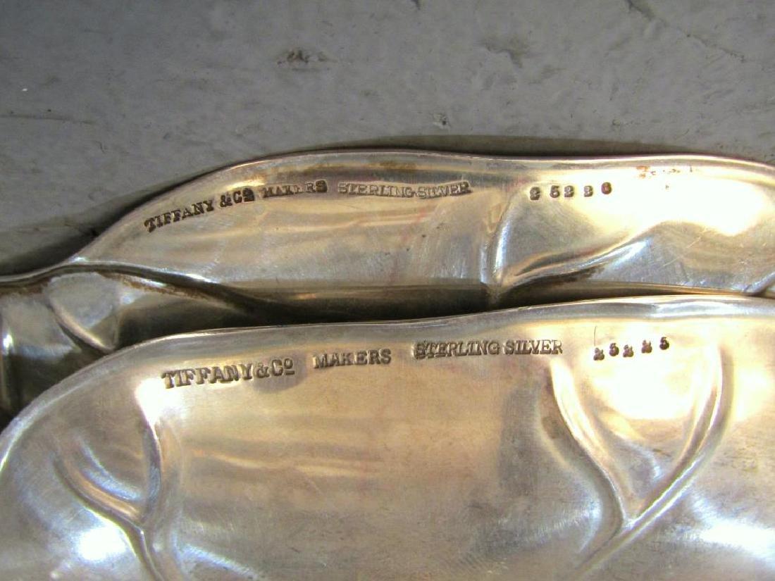 2 Tiffany & Co. Sterling Cabbage Leaf Trays - 4