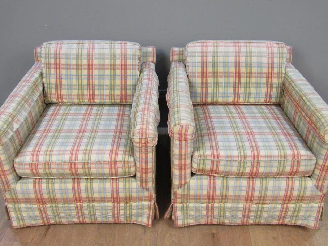 Pair Swivel Club Chairs - 2