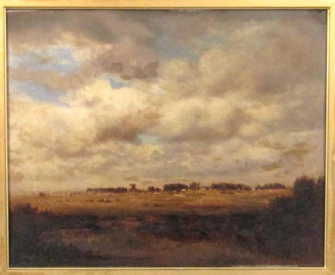 Gilbert Munger (American, 1837-1903)- Oil on Board