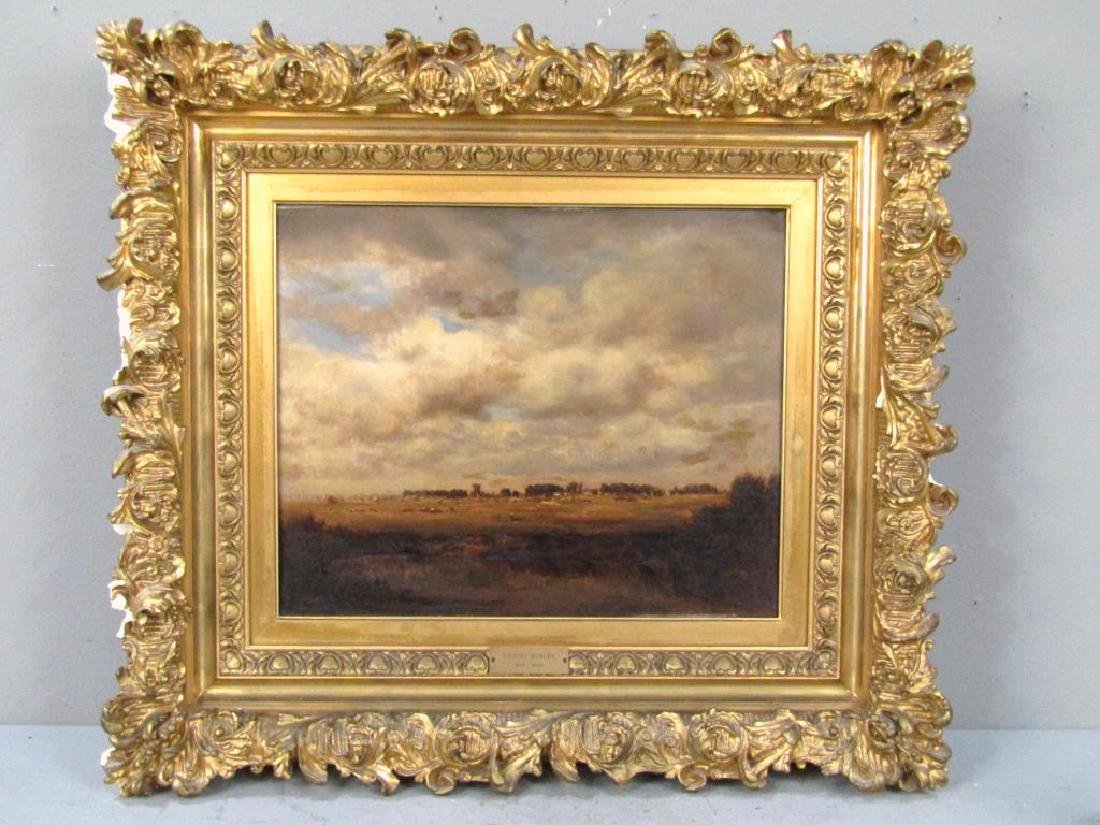 Gilbert Munger (American, 1837-1903)- Oil on Board - 2