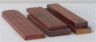 5 Carved Wood Cribbage Boards