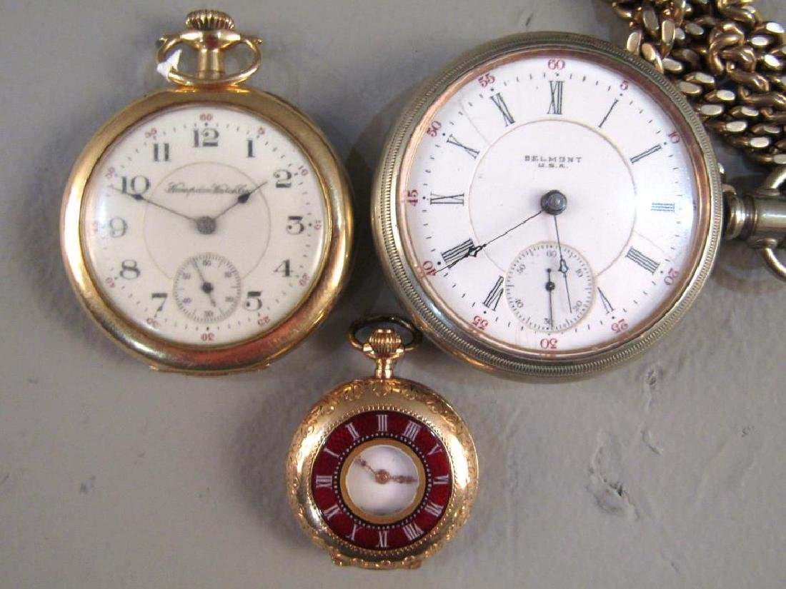 3 Open Face Pocket Watches