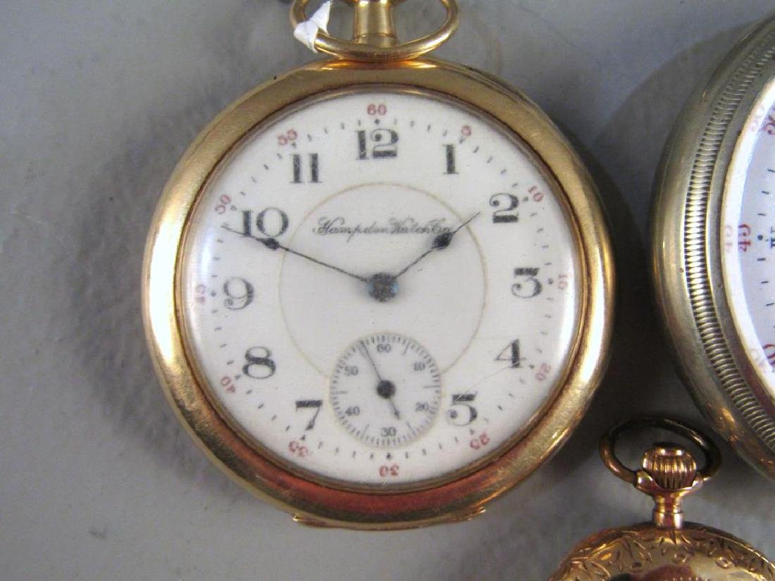 3 Open Face Pocket Watches - 2