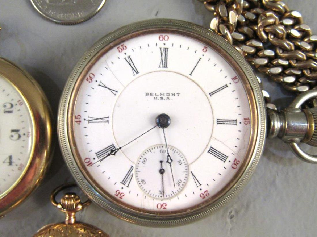 3 Open Face Pocket Watches - 4