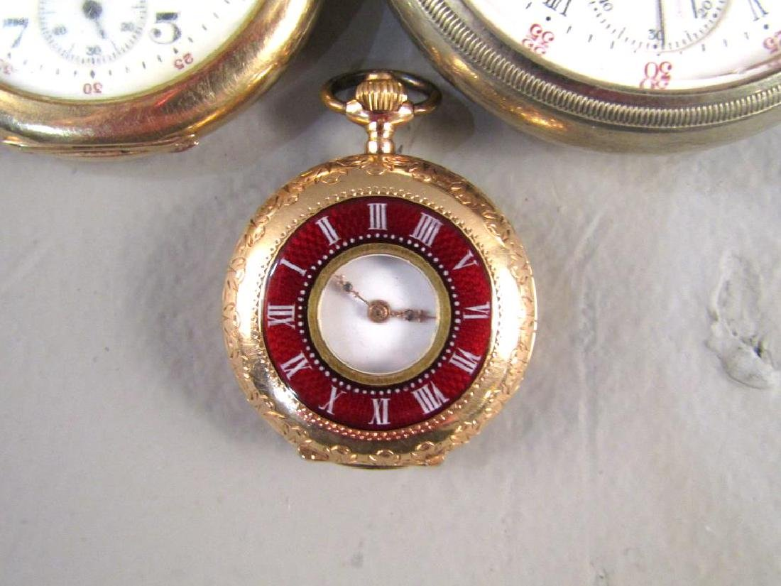 3 Open Face Pocket Watches - 5