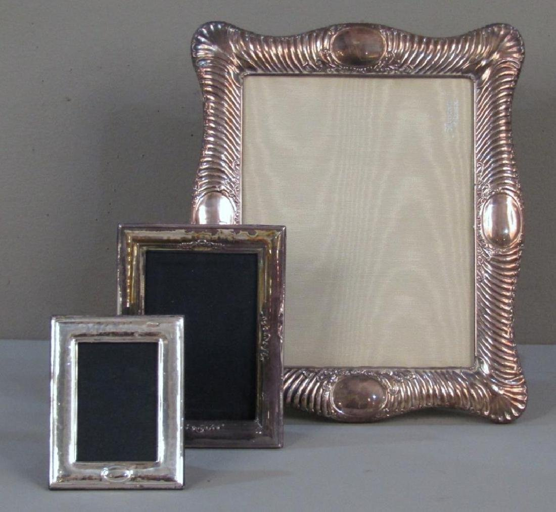 3 Sterling Silver Photo Frames