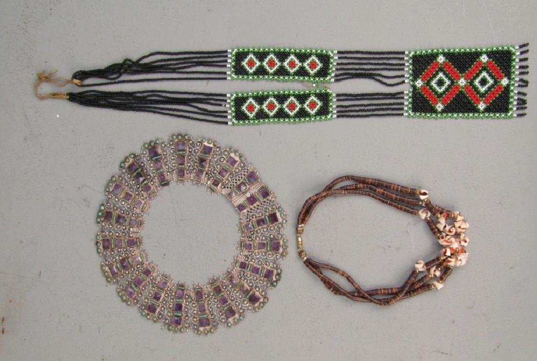 2 Chokers and One Pendant Necklace
