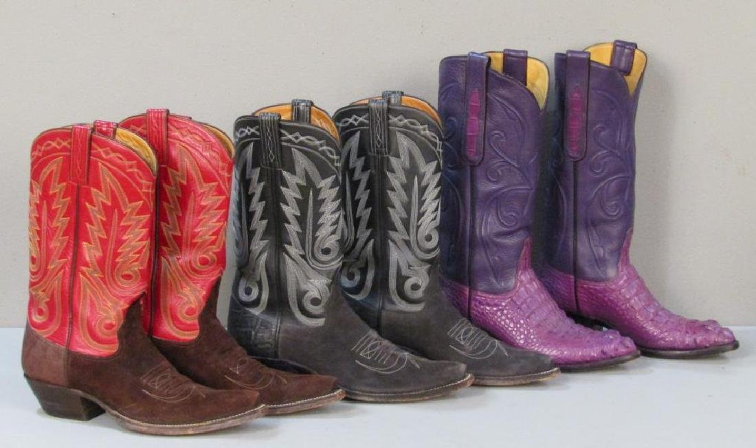 9 Pairs of Leather Cowboy Boots - 4