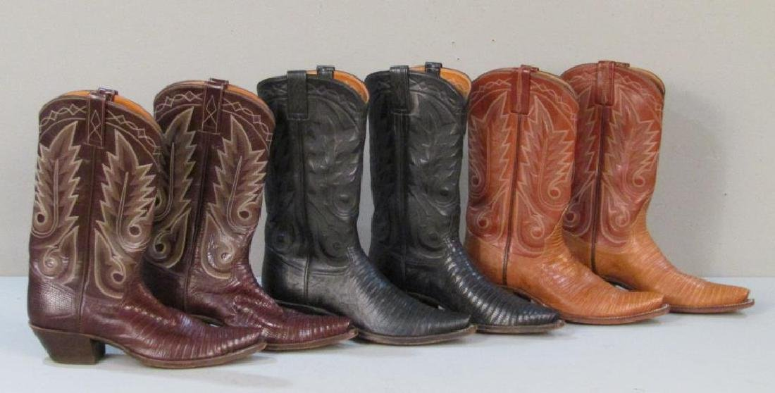9 Pairs of Leather Cowboy Boots - 5