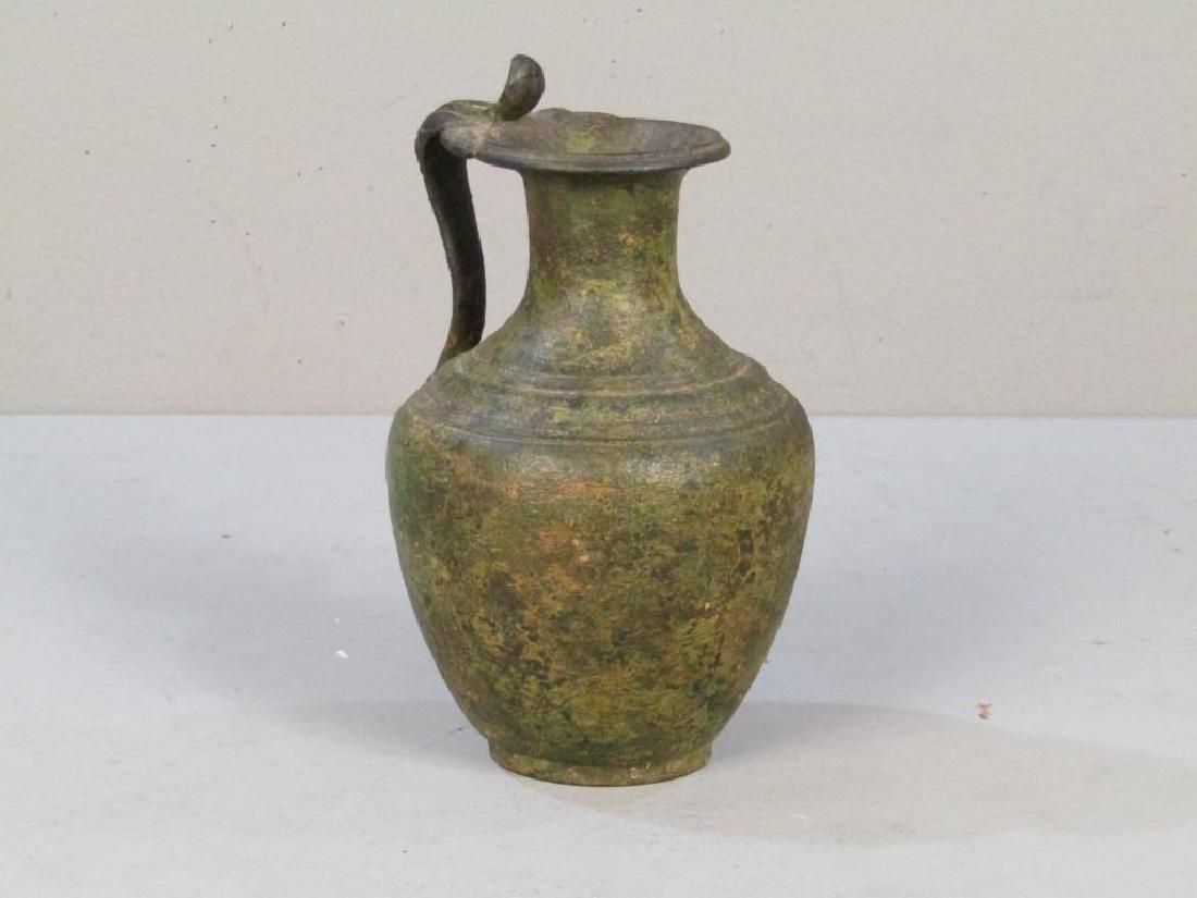 Antique Roman Style Bronze Ewer