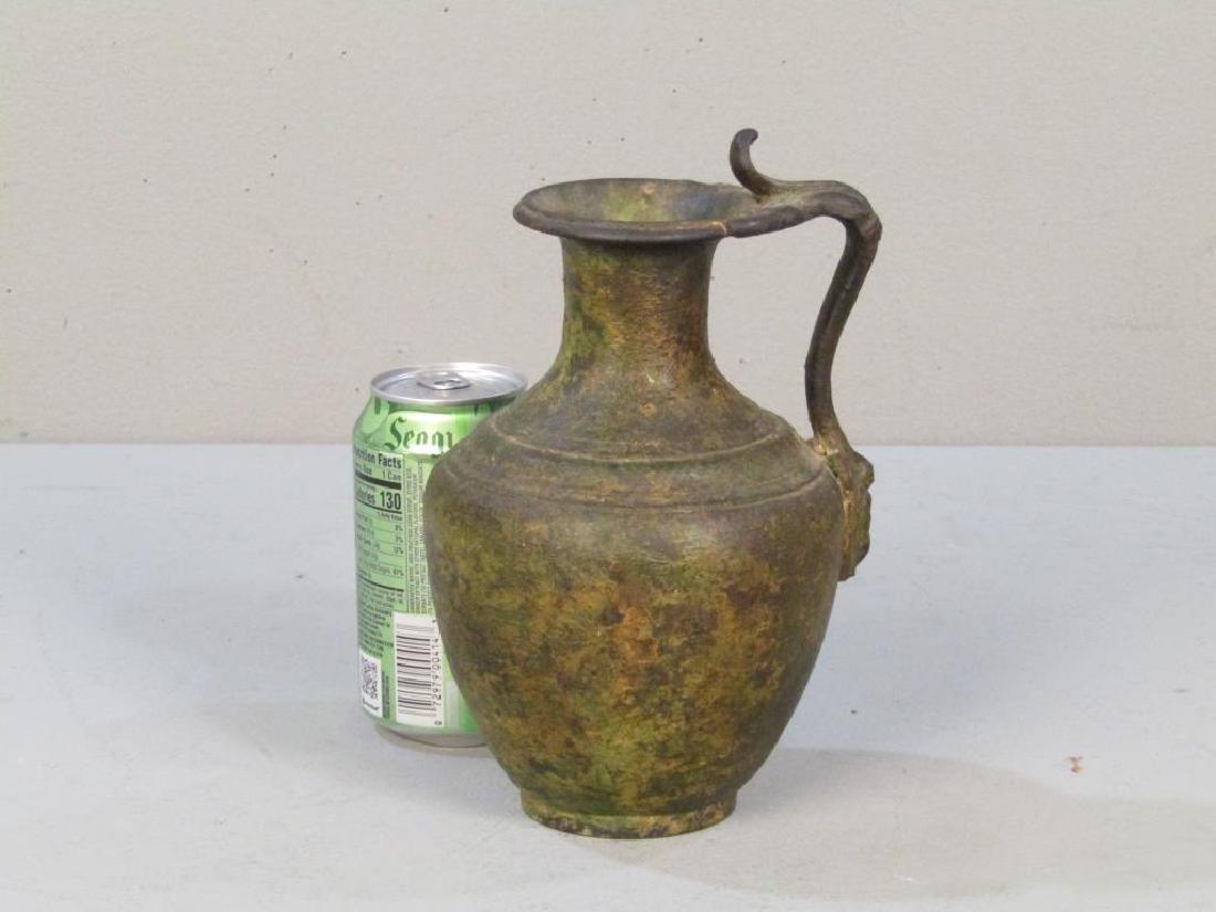 Antique Roman Style Bronze Ewer - 2