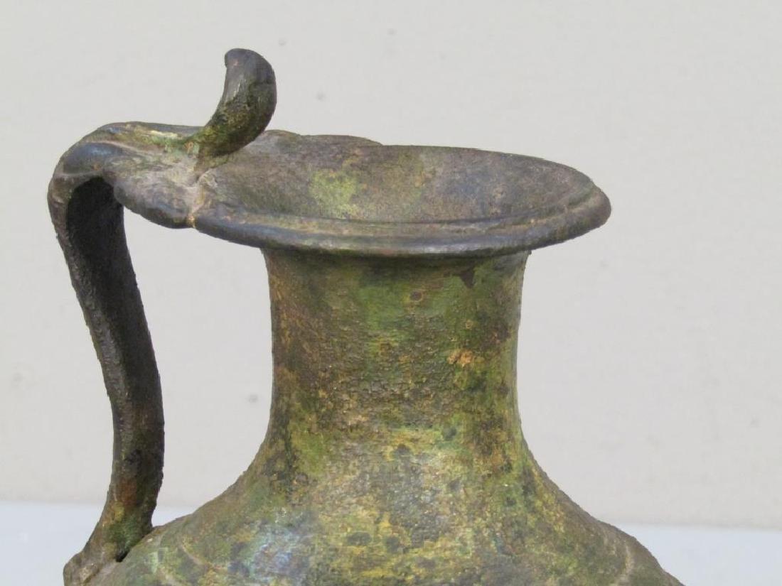 Antique Roman Style Bronze Ewer - 3