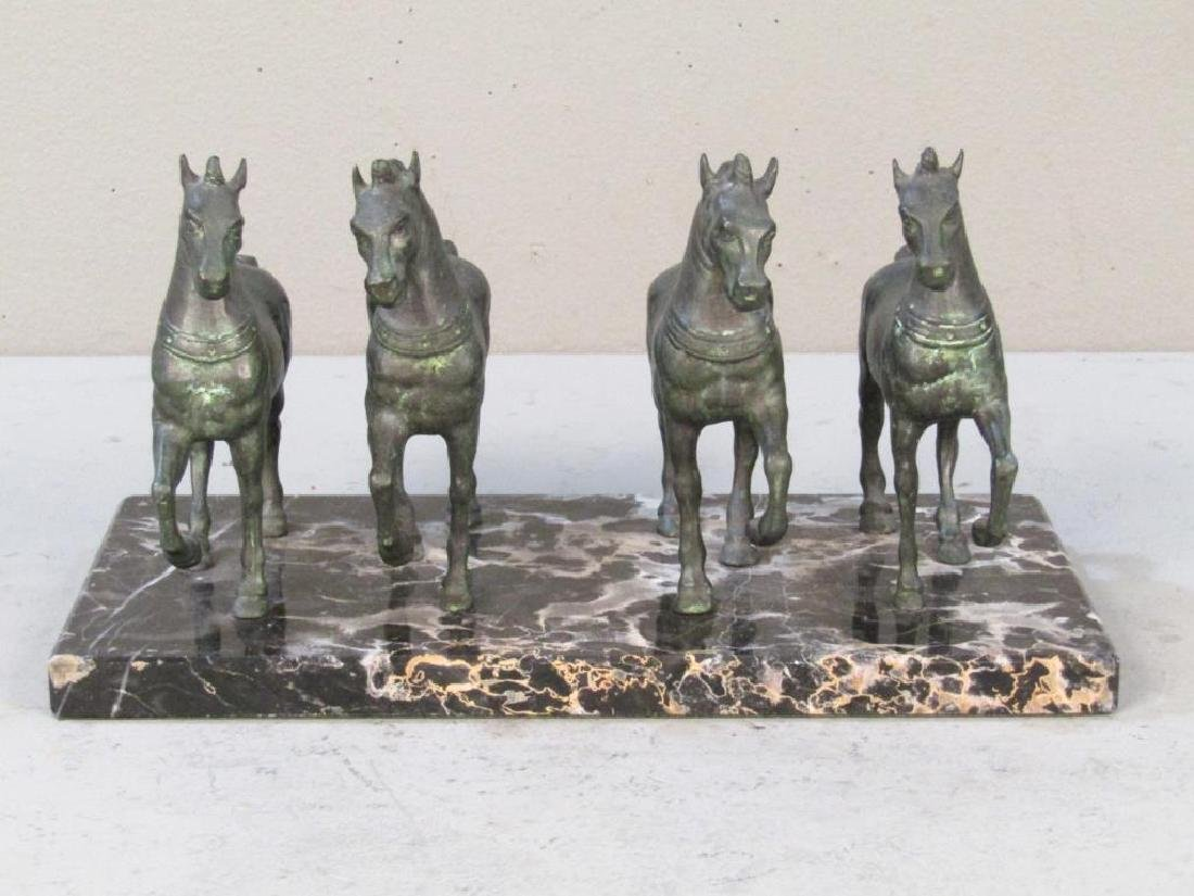 Bronze Sculpture of 4 Horses