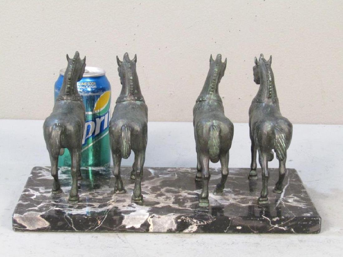 Bronze Sculpture of 4 Horses - 2