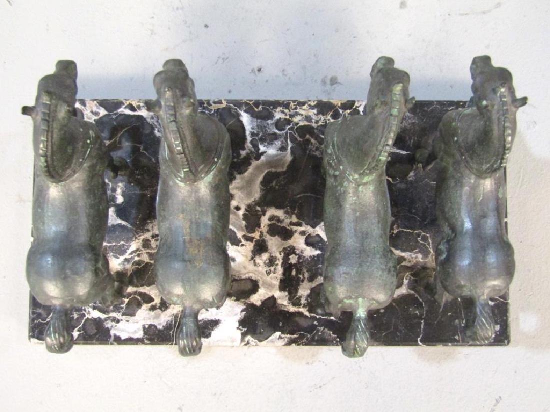 Bronze Sculpture of 4 Horses - 5
