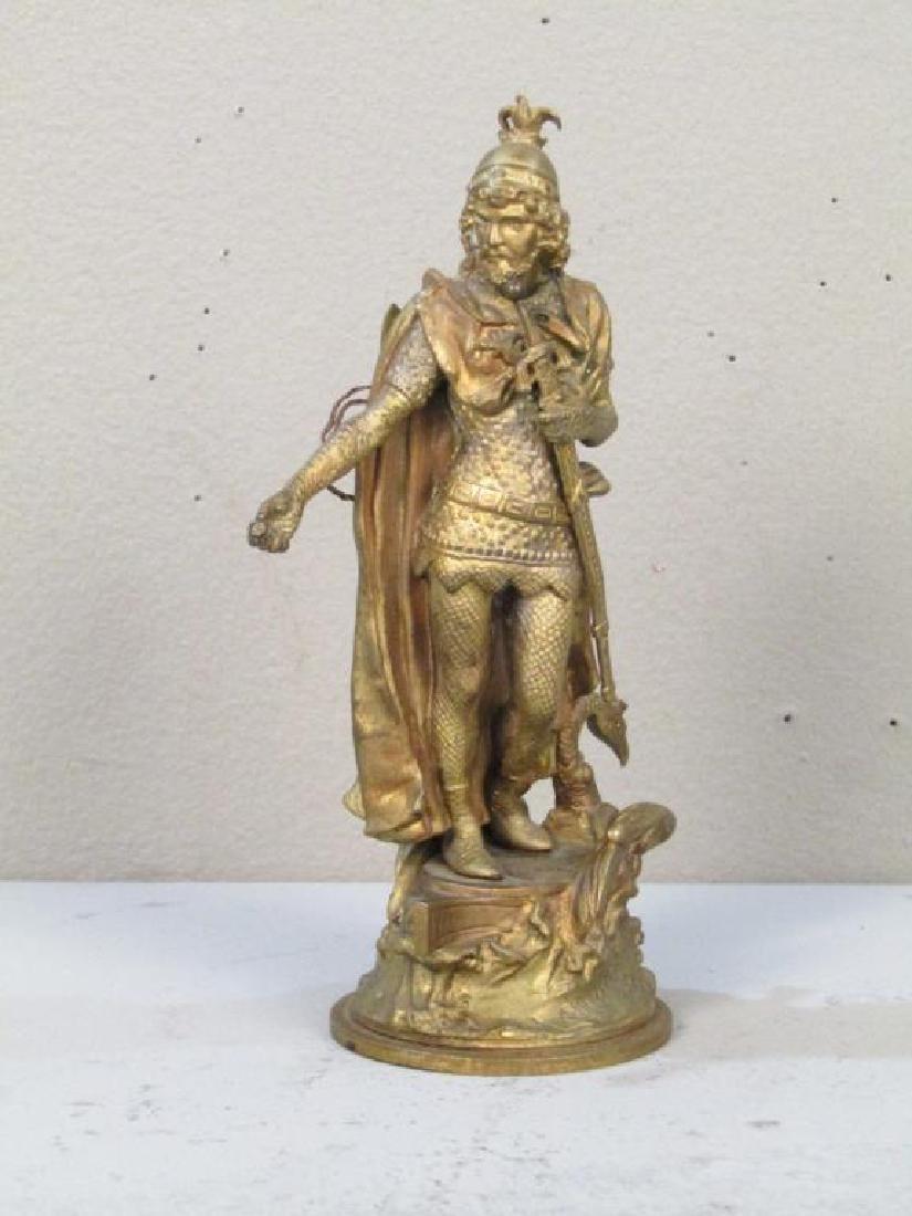 Geschutzt Bronze Figure of Lohengrin