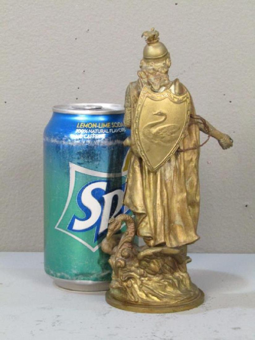 Geschutzt Bronze Figure of Lohengrin - 2