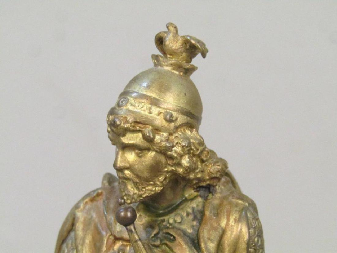 Geschutzt Bronze Figure of Lohengrin - 3