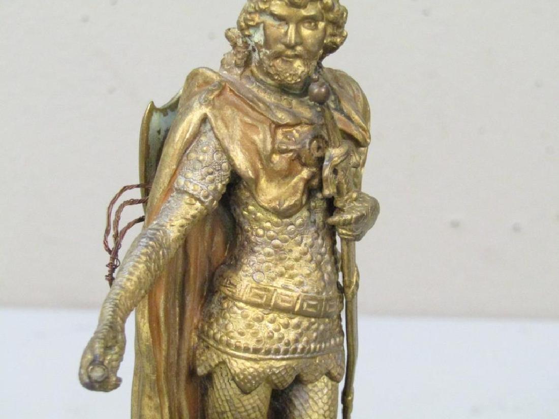 Geschutzt Bronze Figure of Lohengrin - 4