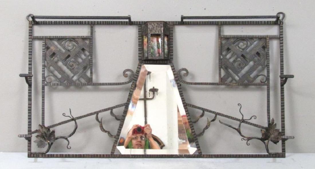 Edgar Brandt Style Iron Hanging Hall Rack