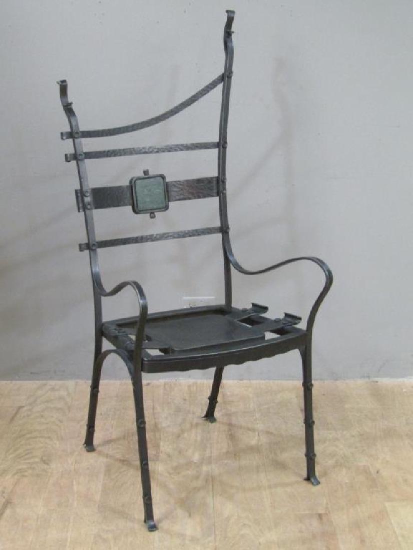 Nick Hanchas Sculptural Iron Chair