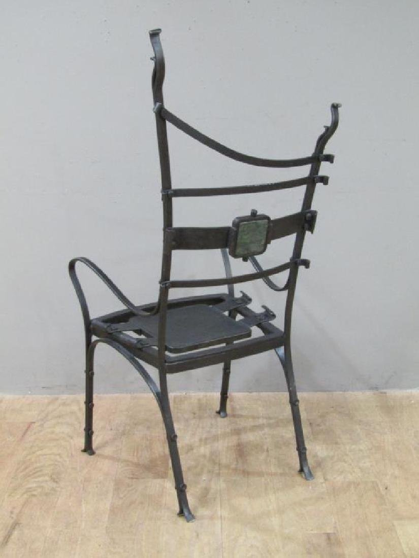 Nick Hanchas Sculptural Iron Chair - 6