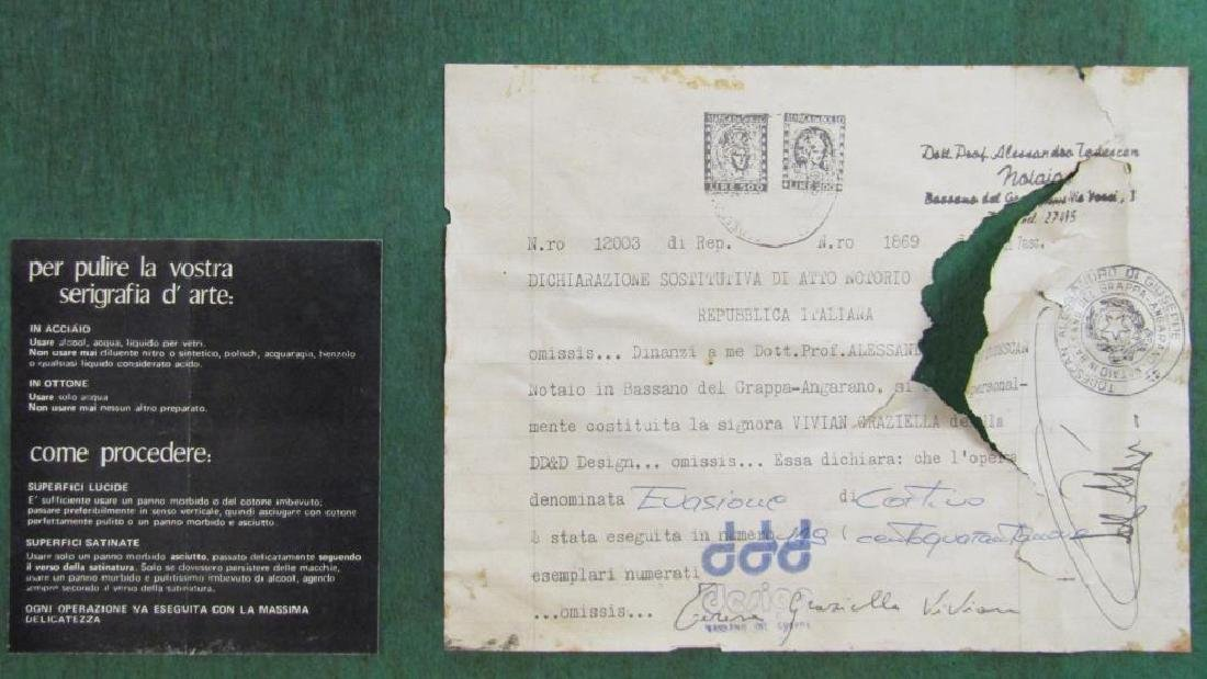 Signed Illegibly - Screenprint on Brass Panel - 9