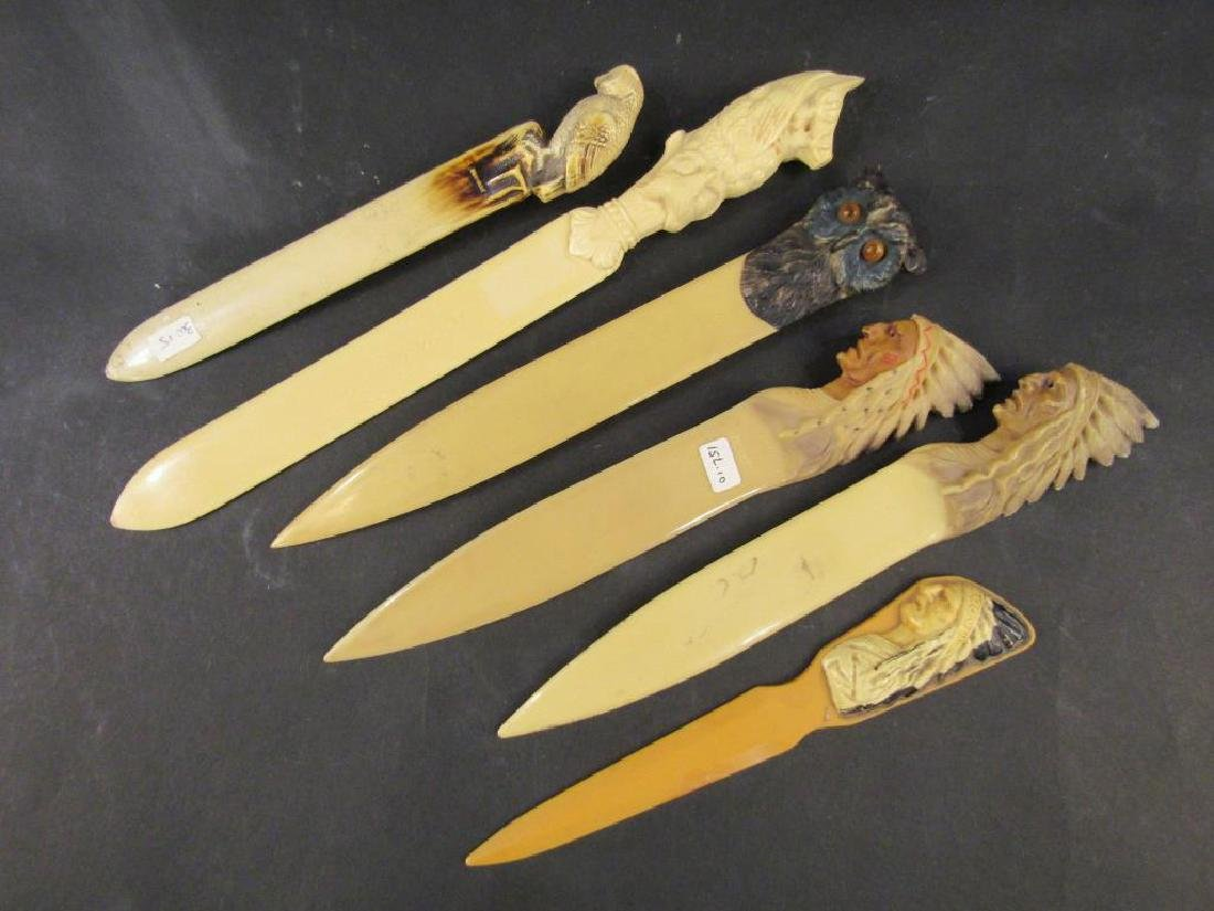 6 Celluloid Beer Skimmers / Letter Openers