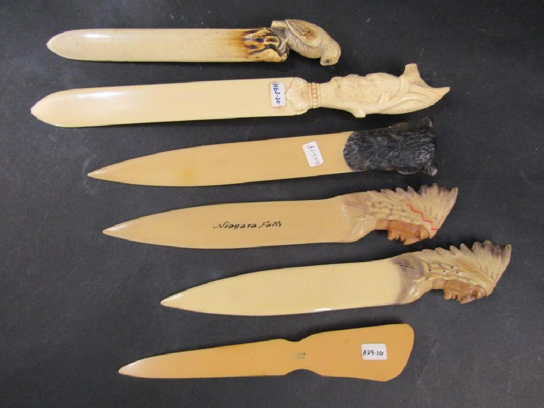 6 Celluloid Beer Skimmers / Letter Openers - 4