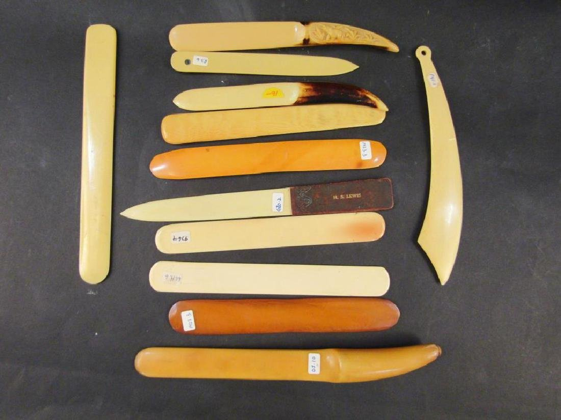 12 Celluloid Beer Skimmers and Letter Openers - 5