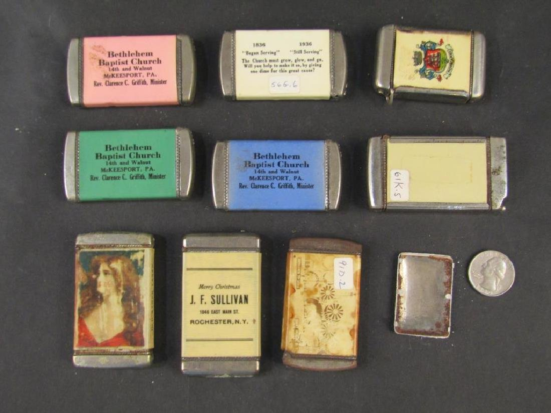 10 Assorted Advertising Match Safes, etc. - 3