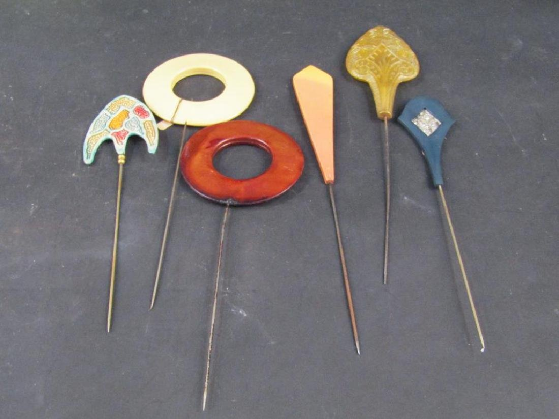 6 Assorted Hat Pins - 2