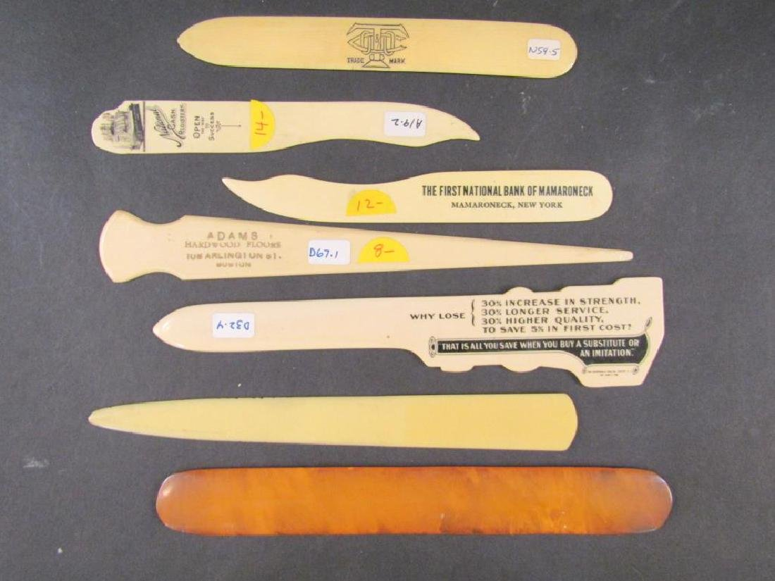 7 Assorted Celluloid Skimmers / Openers