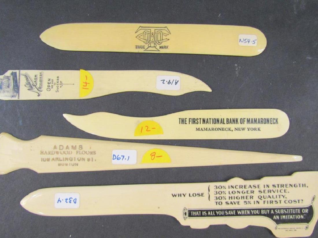 7 Assorted Celluloid Skimmers / Openers - 2