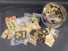 Large Collection Celluloid Buttons