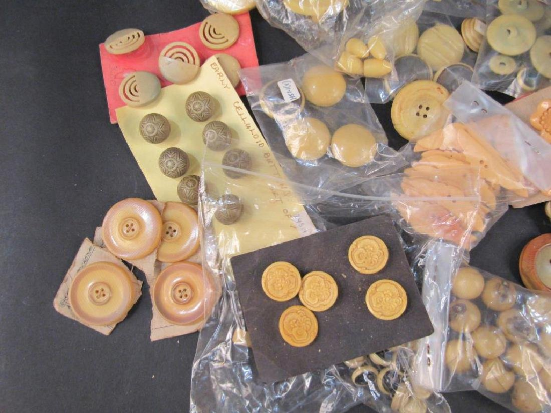 Large Collection Celluloid Buttons - 2