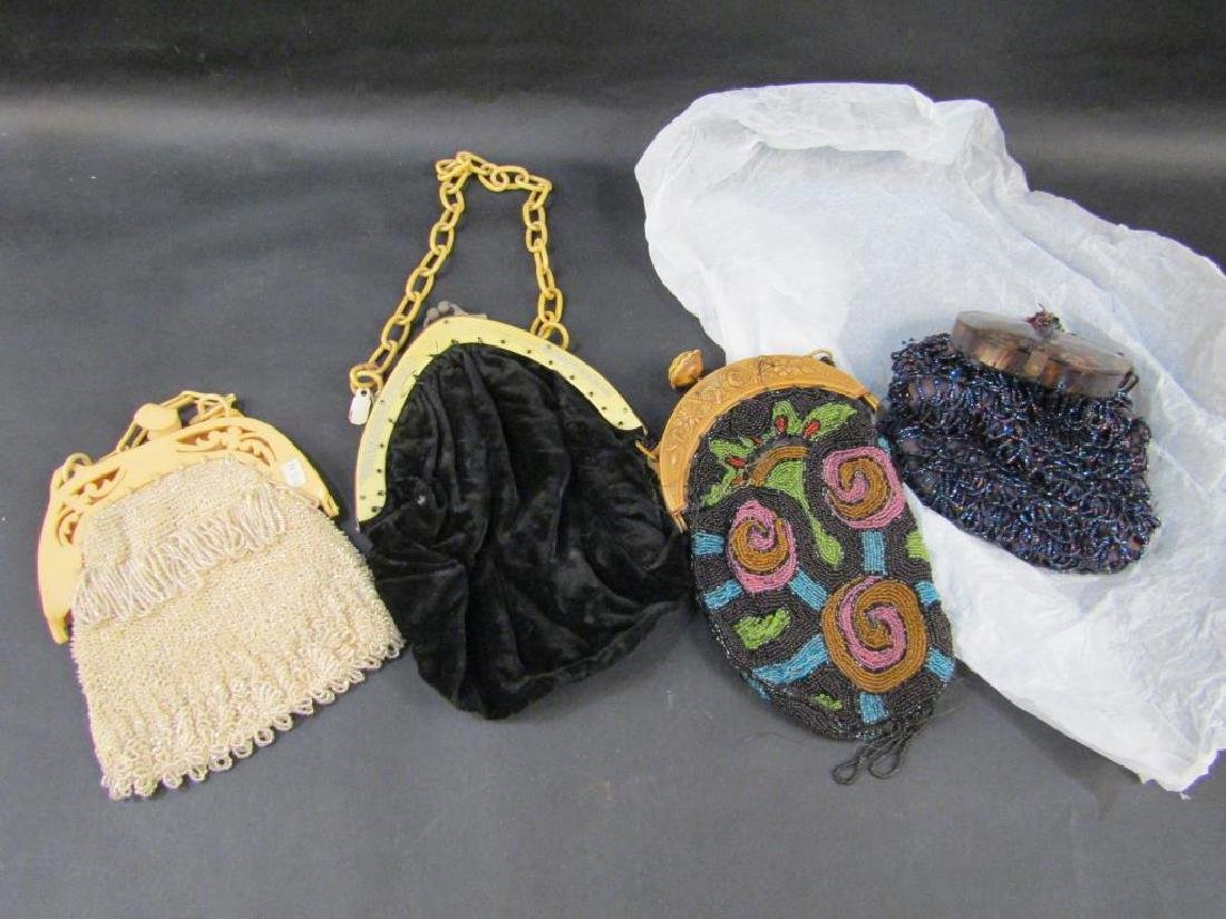 4 Celluloid Mounted Handbags