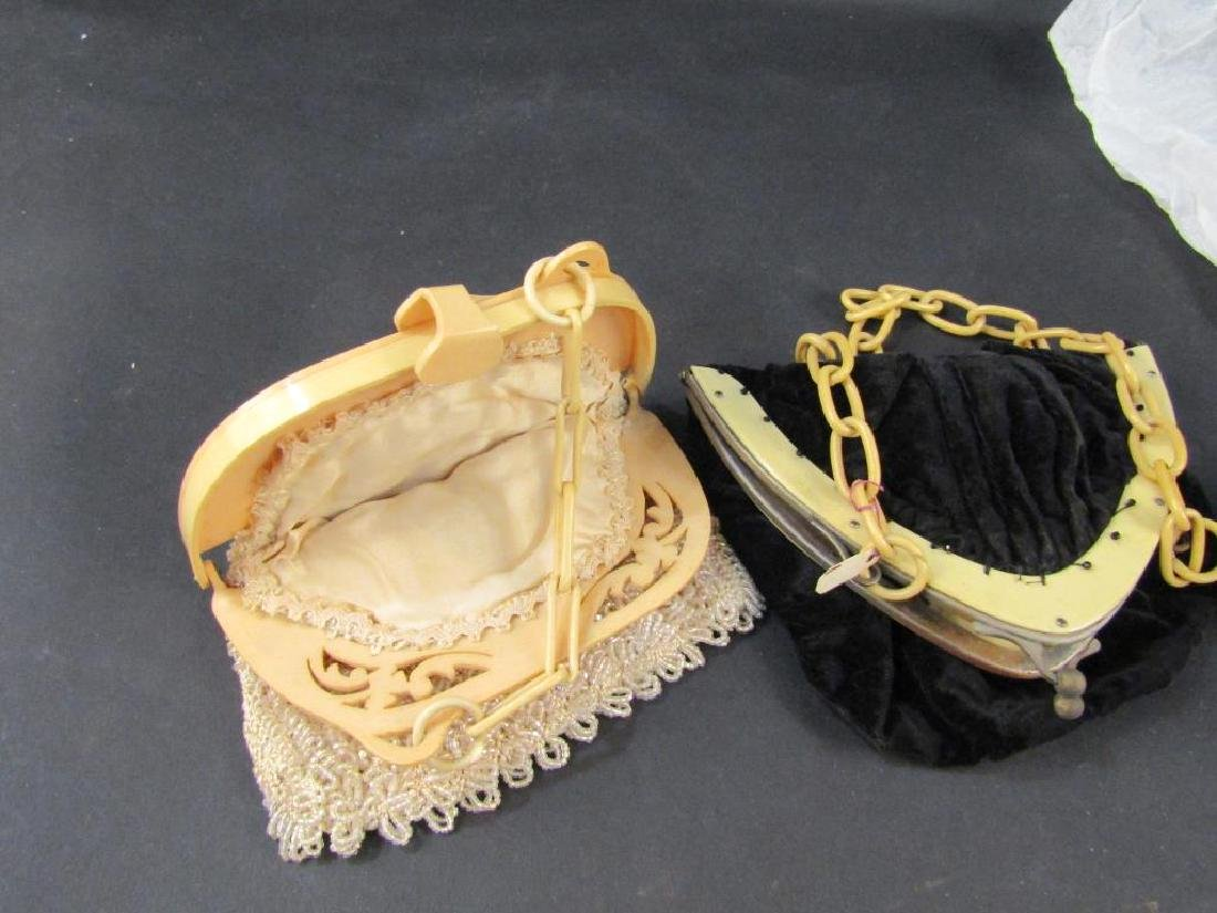 4 Celluloid Mounted Handbags - 2